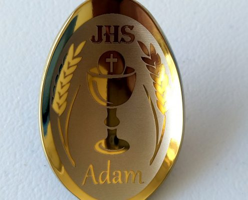 Łyżeczka na Komunię św., Adam